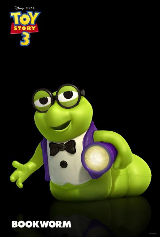 Bookworm, compagno di lettura della favola della buona notte, ultimo arrivato nel cast di Toy Story 3