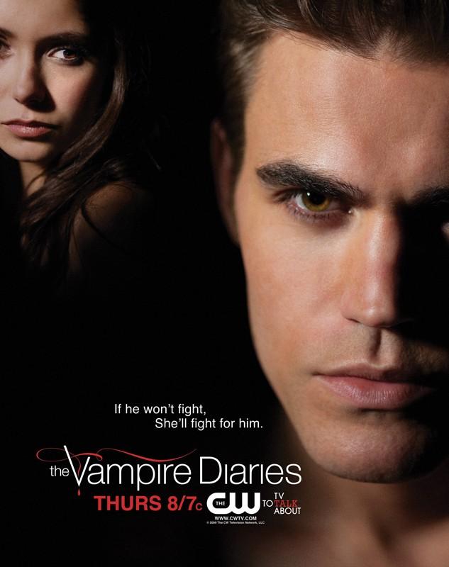 Un nuovo poster rilasciato dalla CW per la stagione 1 di Vampire Diaries con Paul Wesley e Nina Dobrev