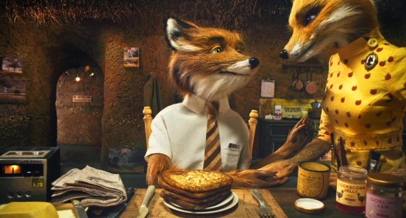 Il signore e la signora Fox in un'immagine di Fantastic Mr. Fox