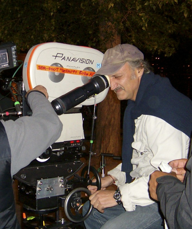 Maurizio Calvesi sul set de Il caso dell\'infedele Klara, a Praga