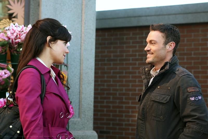 Erica Durance e Brian Austin Green in una scena dell'episodio Upgrade di Smallville
