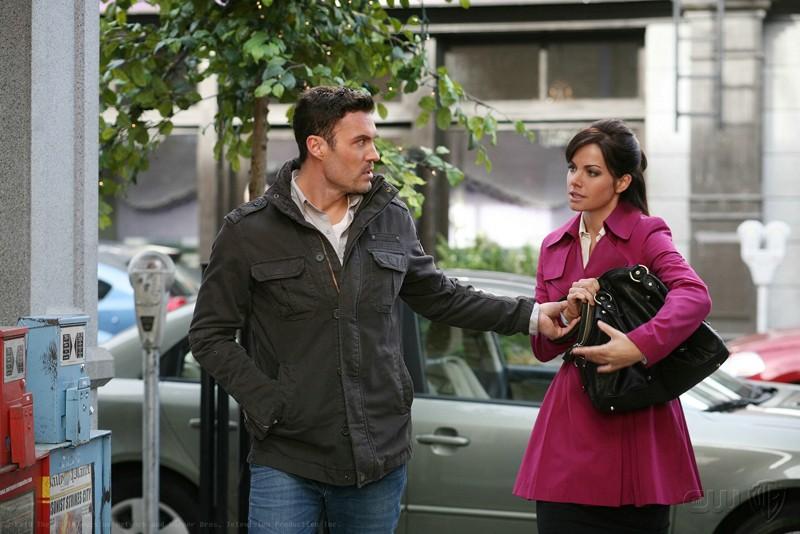 John Corben (Brian Austin Green) e Lois Lane (Erica Durance) nell'episodio Upgrade di Smallville