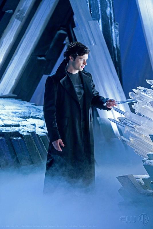 Tom Welling in una scena dell'episodio Upgrade di Smallville
