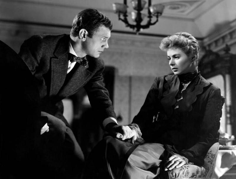 Joseph Cotten e Ingrid Bergman in una scena del film Angoscia