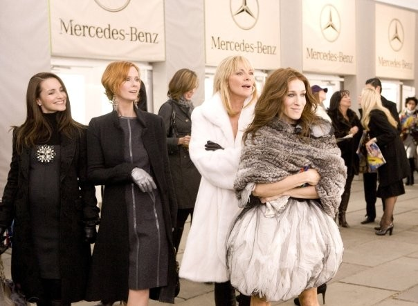 Kristin Davis, Cynthia Nixon, Kim Cattrall e Sarah Jessica Parker in un'immagine di Sex and the City