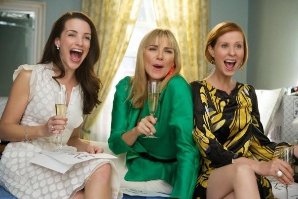 Kristin Davis, Kim Cattrall e Cynthia Nixon in un'immagine di Sex and the City