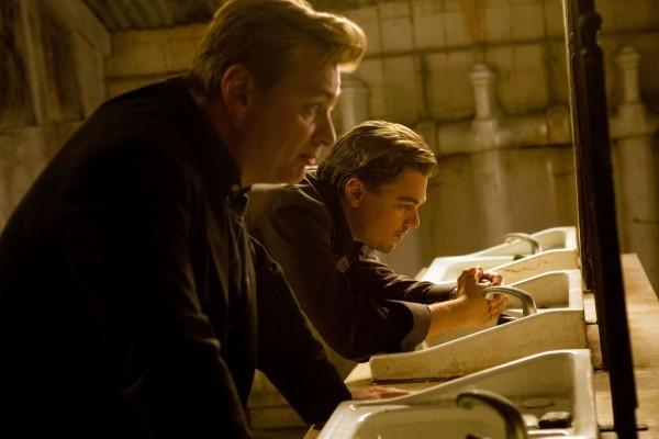 Leonardo DiCaprio sul set di Inception con Christopher Nolan