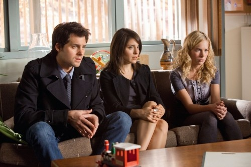 Life UneXpected: Kristoffer Polaha, Shiri Appleby e Brittany Robertson in una scena dell'episodio Family Therapized