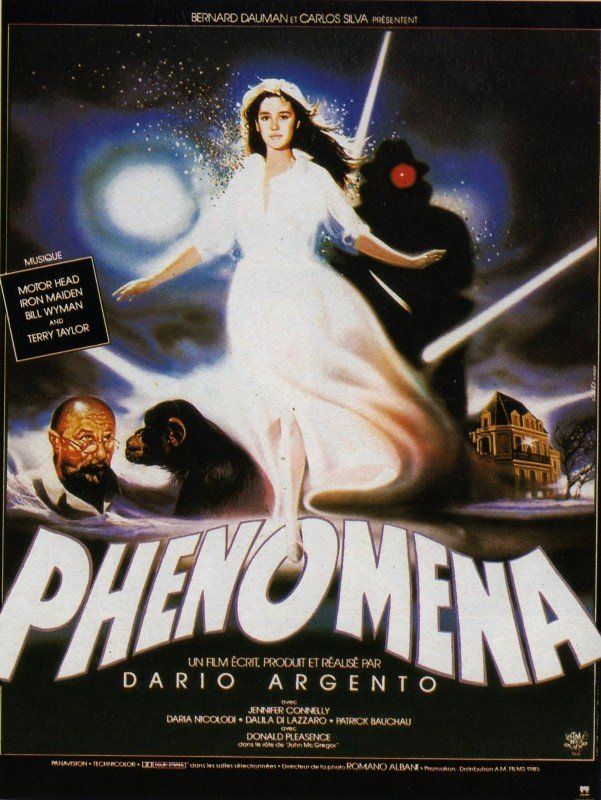 Locandina francese del film Phenomena (1985)