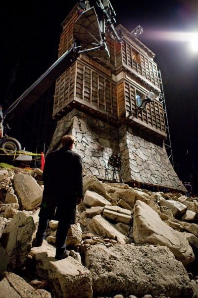 Una misteriosa torre sul set di Inception