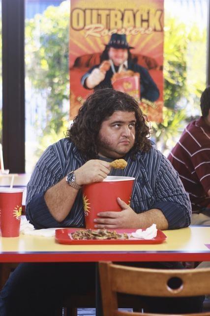 Jorge Garcia in una scena dell'episodio Everybody Loves Hugo di Lost