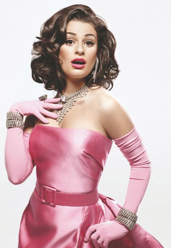 La Material Girl Lea Michele in una foto promo di The Power of Madonna, episodio di Glee