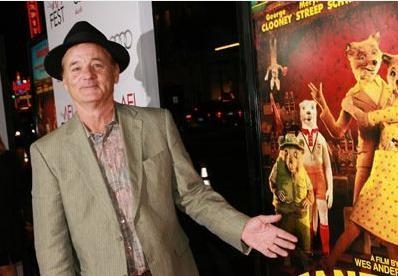 Bill Murray alla premiere del film Fantastic Mr. Fox all'Afi fest 2009