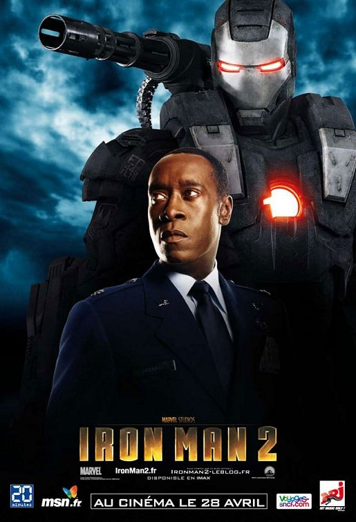 Character Poster francese di Iron Man 2, Don Cheadle