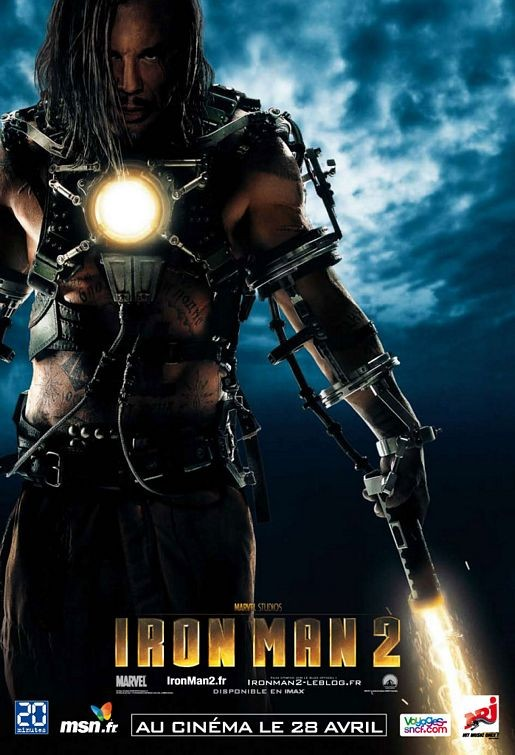 Character Poster francese di Iron Man 2, Mickey Rourke