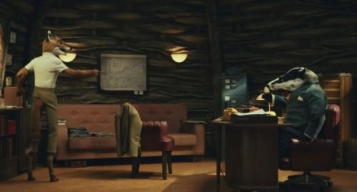 Fox e il suo avvocato Badger in una scena di Fantastic Mr. Fox