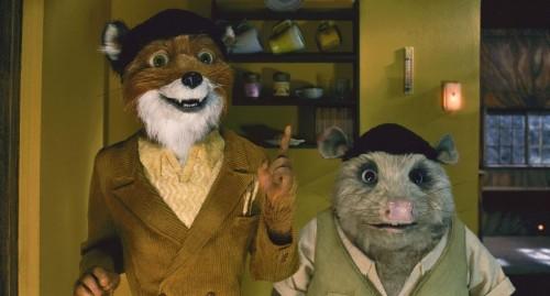 Il signor Fox con l'amico Kylie in un'immagine di Fantastic Mr. Fox