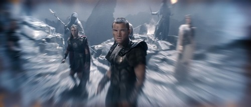 Perseo (Sam Worthington) in una scena del film Clash of the Titans 3D