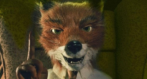 Primo piano del signor Fox, intrepido protagonista del film d'animazione Fantastic Mr. Fox