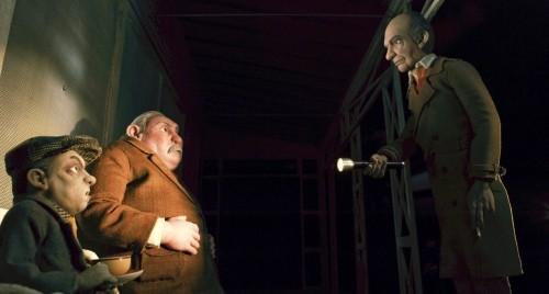 Un'immagine dei cattivi di turno nel film Fantastic Mr. Fox