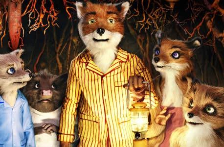Un'immagine dei simpatici protagonisti del film d'animazione Fantastic Mr. Fox