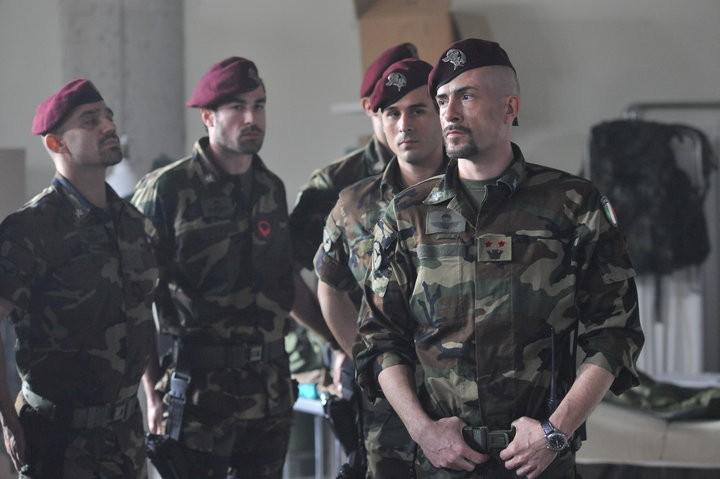Gianmarco Tognazzi nel ruolo del colonnello Moresco per il film Le ultime 56 ore