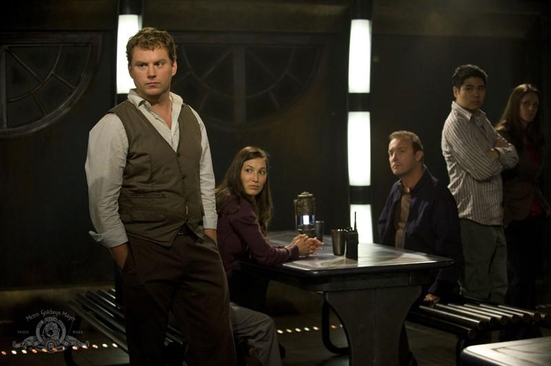 Patrick Gilmore in una scena dell'episodio Divided di Stargate Universe