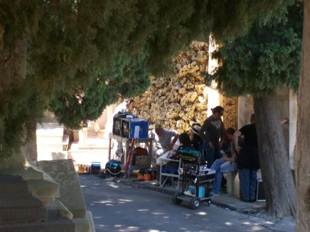 Un'immagine del set del film Le ultime 56 ore
