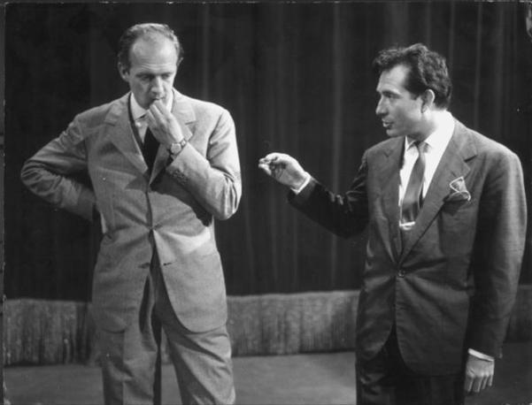 Vianello e Tognazzi durante 'Un due tre'