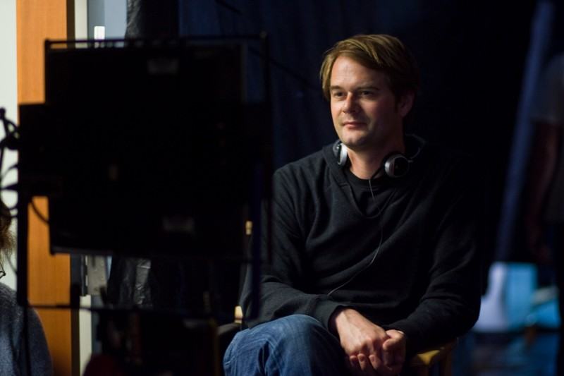 Tom Vaughan sul set del suo film Misure straordinarie