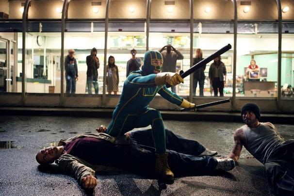 Una scena del film Kick-Ass con il protagonista Aaron Johnson