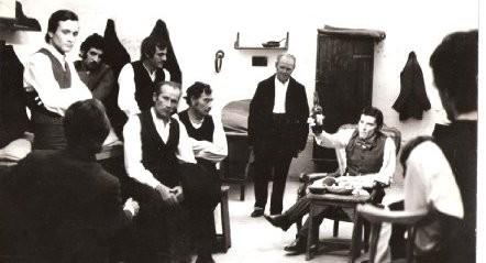 Antonio Orfanò con Tony Musante in sul set di Alle Origini della Mafia
