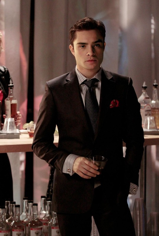Chuck Bass (Ed Westwick) in un momento dell'episodio Dr. Strangeloved di Gossip Girl