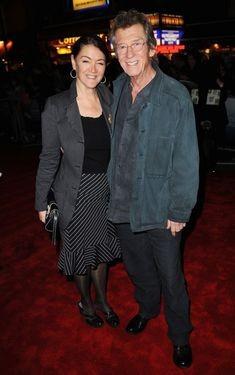 Ann Rees Meyers e John Hurt alla premiere di Londra del film The Road