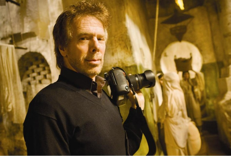 Il produttore Jerry Bruckheimer sul set di Prince of Persia: The Sands of Time