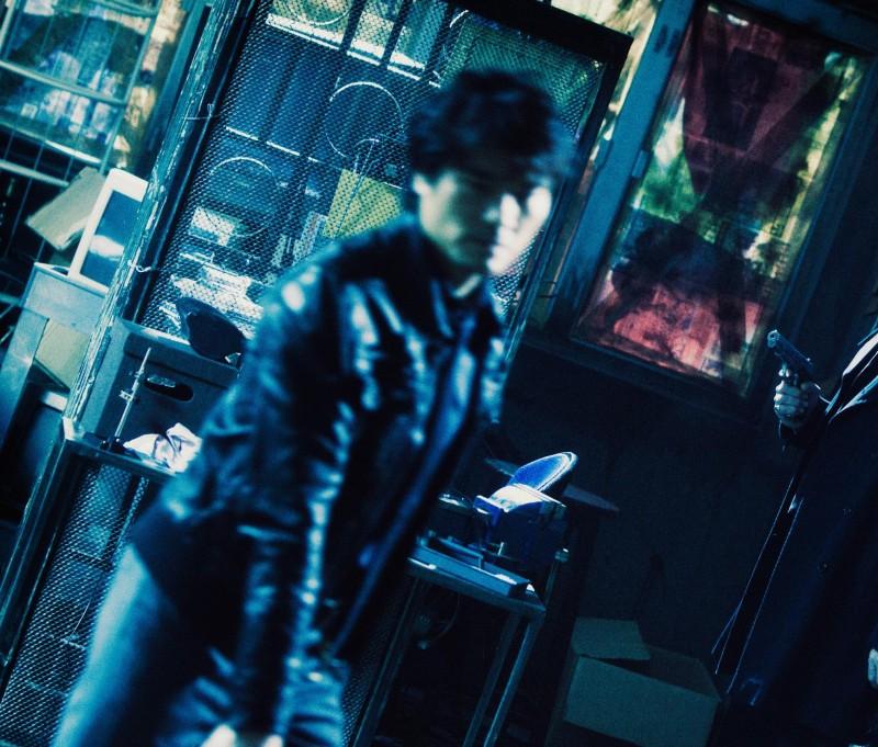 Johnny Hallyday e Lam Ka Tung in una sequenza del film Vendicami, diretto da Johnnie To
