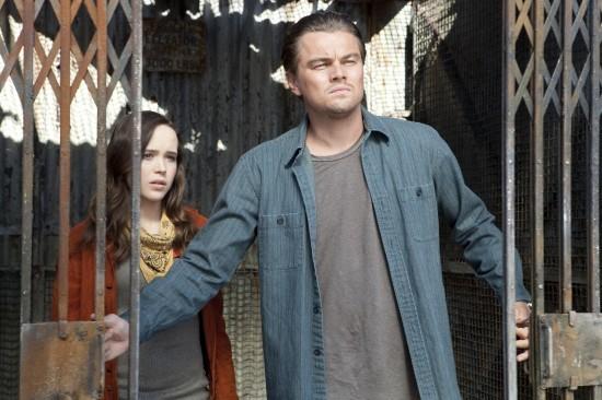 Leonardo DiCaprio insieme a Ellen Page in una scena di Inception