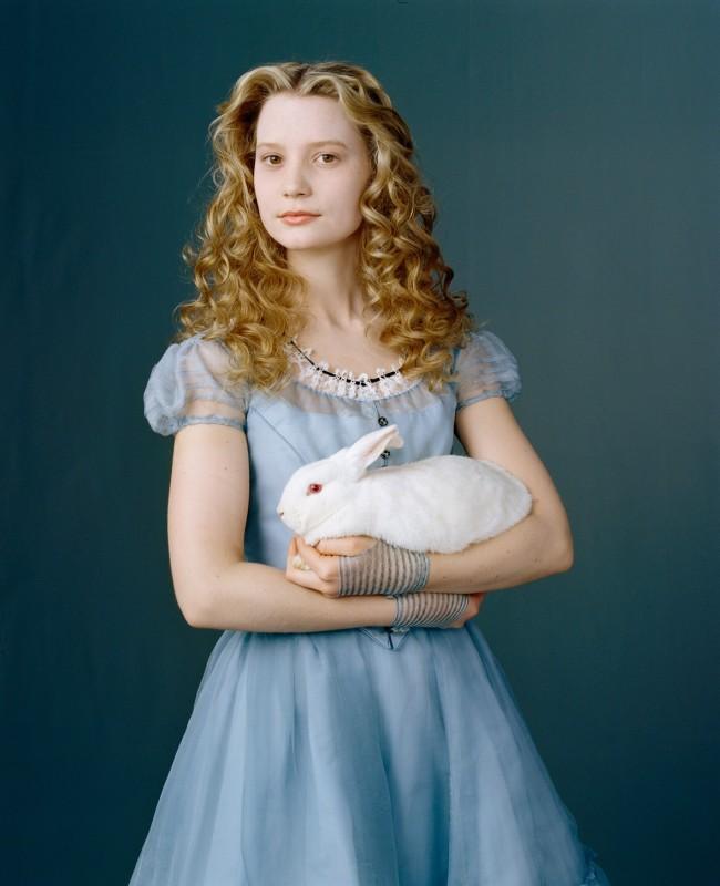 Mia Wasikowska per il film Alice in Wonderland