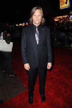 Viggo Mortensen alla premiere di Londra del film The Road