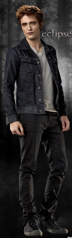 Un'immagine promo, formato segnalibro, con Robert Pattinson per il film The Twilight Saga: Eclipse