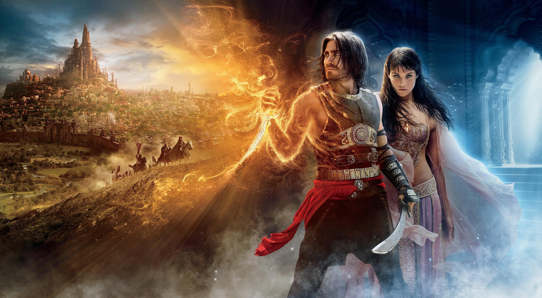 Un wallpaper con i protagonisti principali del film Prince of Persia: Sands of Time