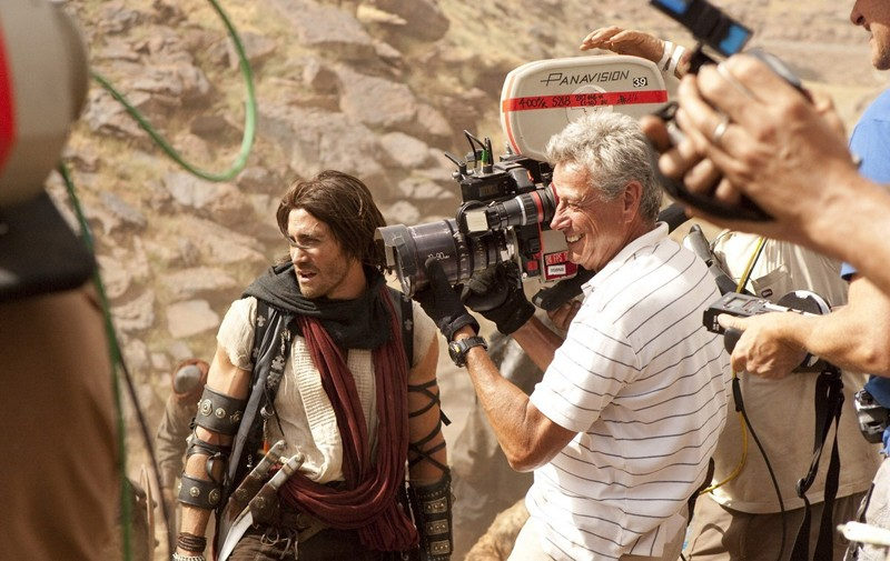 Jake Gyllenhaal durante le riprese del film Prince of Persia: The Sands of Time
