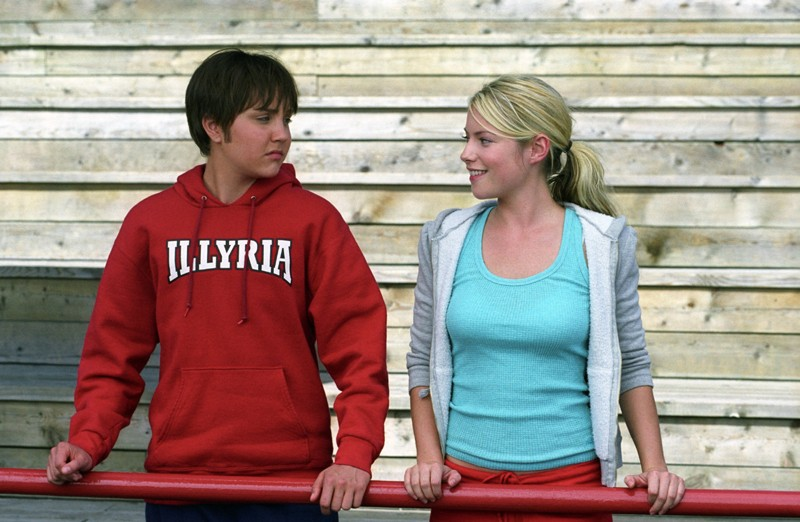 'Sebastian' (Amanda Bynes) e Olivia (Laura Ramsey) in una sequenza del film She's the Man
