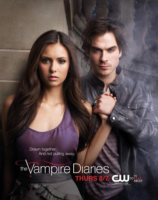 Un nuovo poster per la prima stagione di Vampire Diaries raffigurante Nina Dobrev e Ian Somerhalder