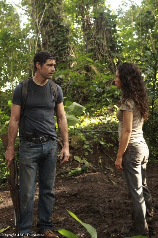 Evangeline Lilly e Matthew Fox nell'episodio The Cadidate di Lost