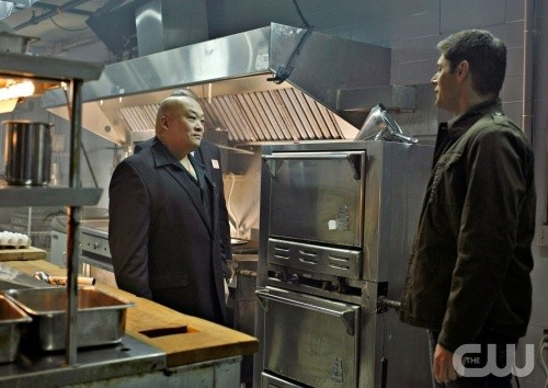 King Lau e Jensen Ackles nell'episodio Hammer of the Gods di Supernatural
