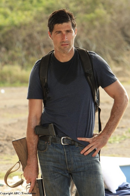 Matthew Fox in una scena dell'episodio The Cadidate di Lost