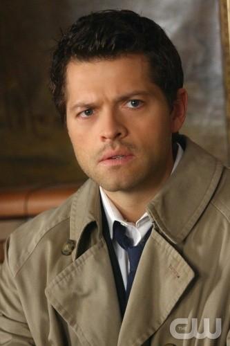 Misha Collins in una scena dell'episodio Point of No Return di Supernatural