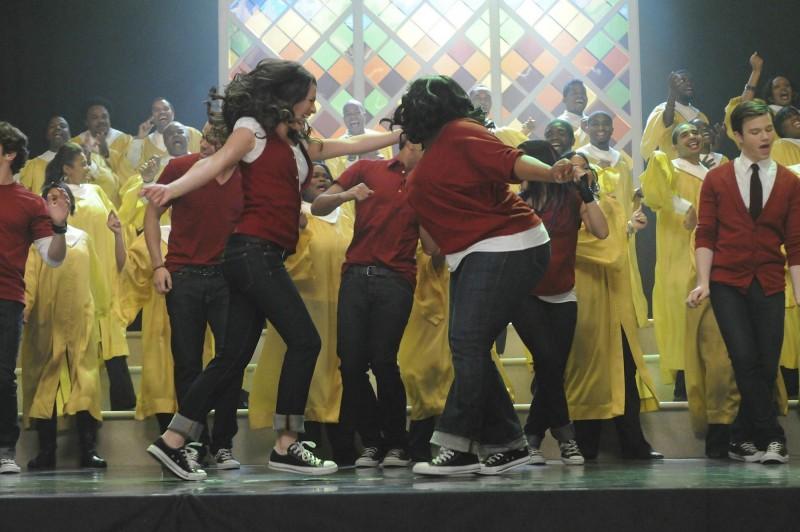 Un momento dell'episodio The Power of Madonna di Glee