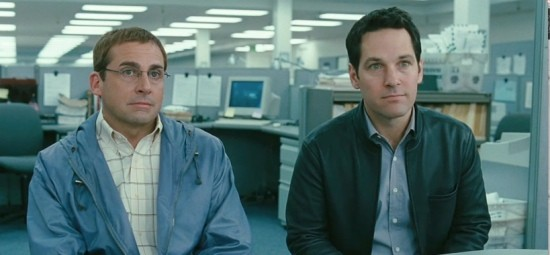 Una buffa immagine di Steve Carell e Paul Rudd, protagonisti di Dinner for Schmucks